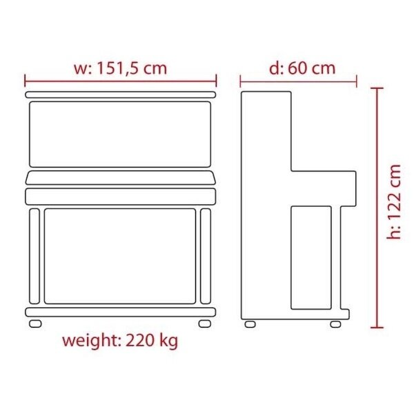 FEURICH 125 design piano