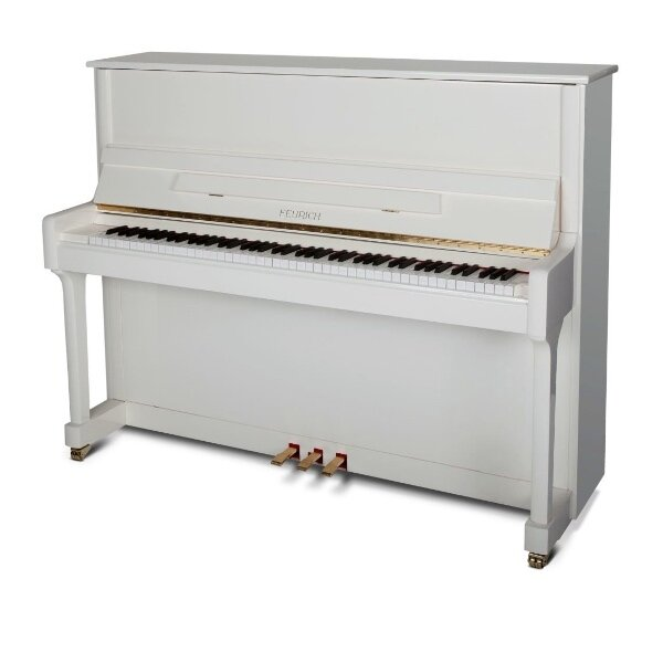 feurich piano 122 wit messing