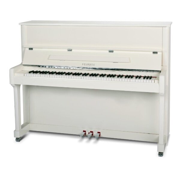 feurich piano 122 wit chroom