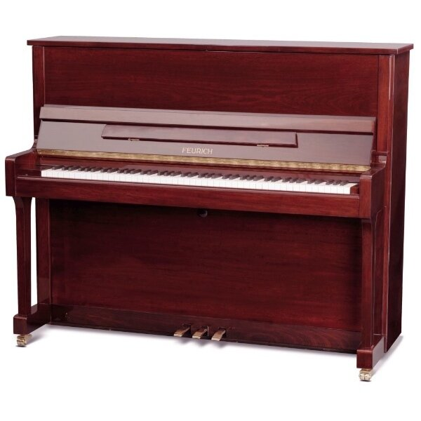 feurich piano 122 Bordeaux polished