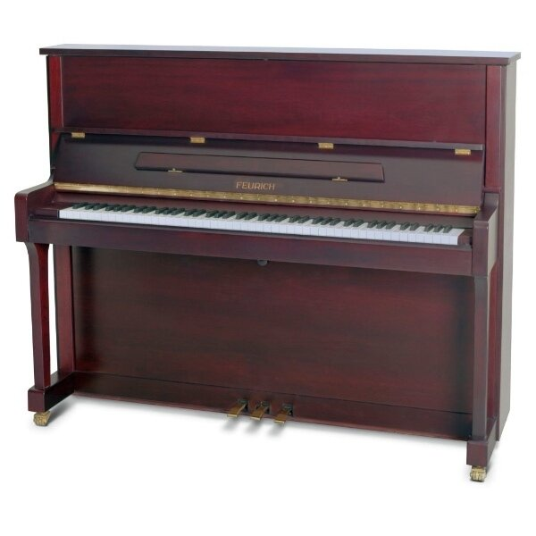 feurich piano 122 bordeaux