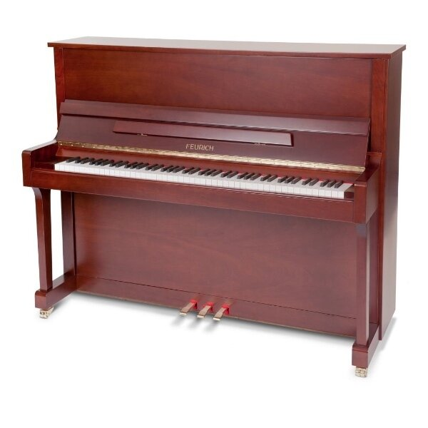 feurich piano 122 walnoot satijn